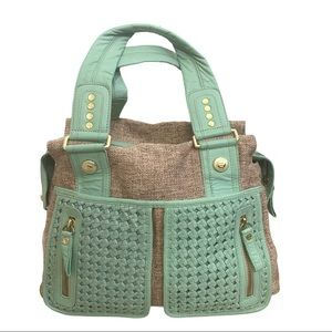 George Gina & Lucy Tweed Leather Tote Bag